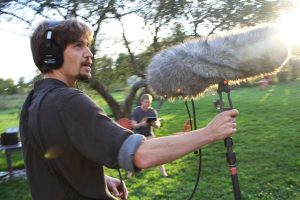 Fred Greenhalgh recording OF FAE & FIENDS